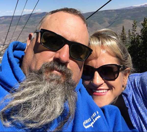 Todd Hoffman with his wife Shawna Hoffman clicking selfie together