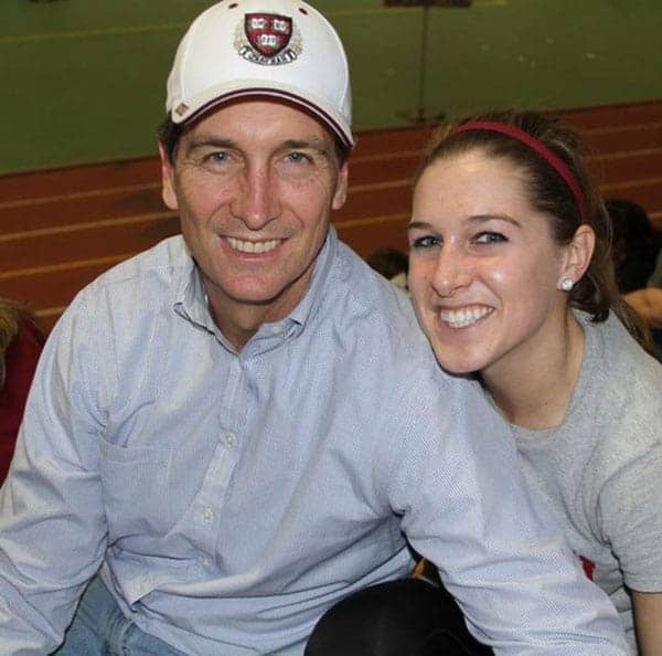 Cris Collinsworth with wife Holly Collinsworth on stadium
