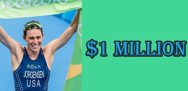 Gwen Jorgensen's Net Worth is $1 Million