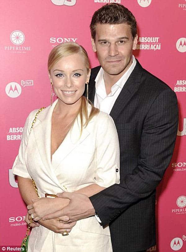 Ingrid Quinn with her ex-husband David Boreanaz