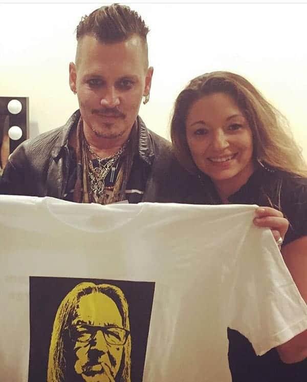 Caption:- Johnny Depp and Kristina Sunshine Jung