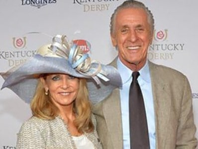 Pat Riley with his wife Chris Rodstrom