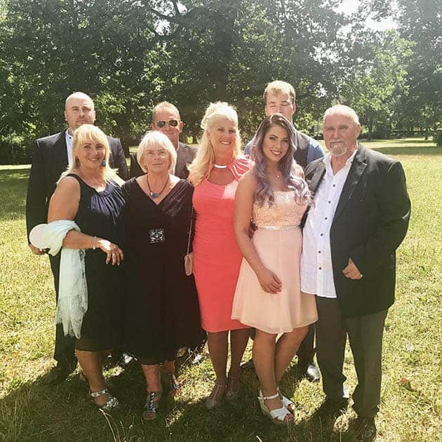 Jenny Frankhauser with family and parents