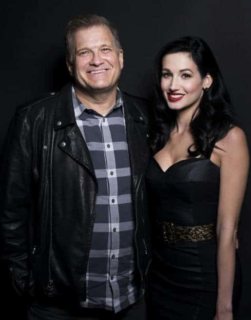 picture of Drew Carey and fiance Fiance Amie Harwick
