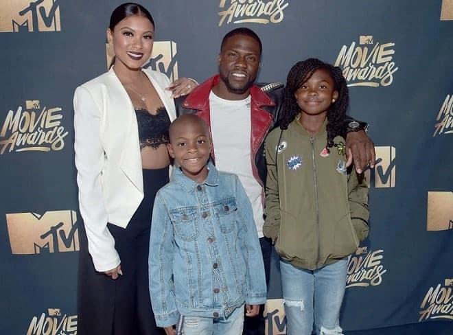 Eniko Parrish with her family at MTV movie award