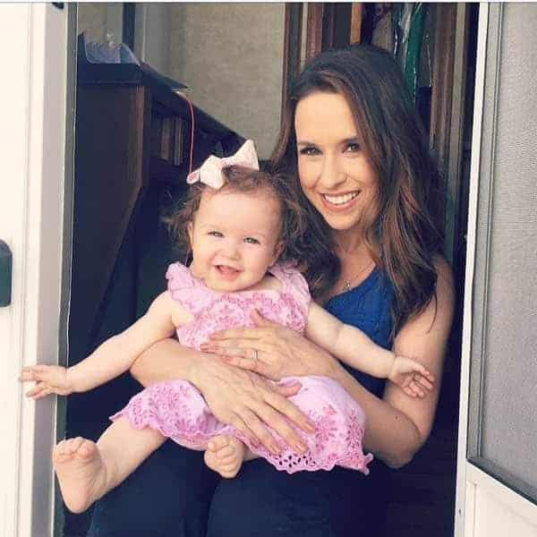 JPicture of David Nehdar wife Lacey Chabert with her daughter