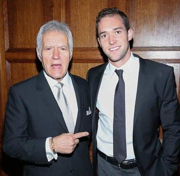 Image of Alex Trebek with his son Matthew Trebek.