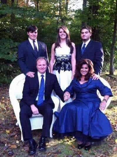 Antonella Nestor with her family