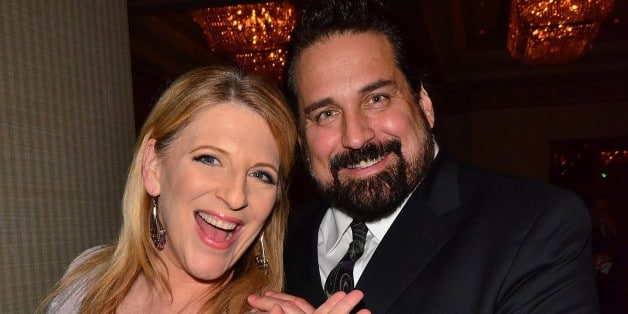 Lisa Lampanelli with her ex husband James Stock