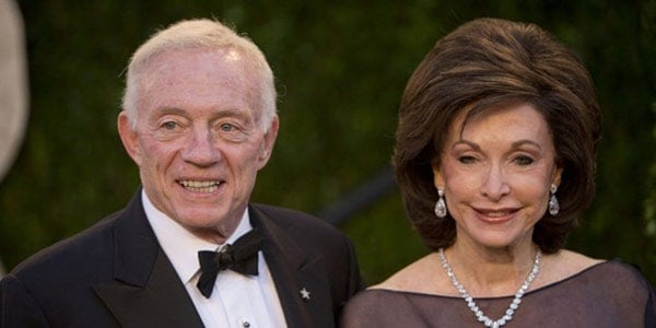 Image of Eugenia Jones with her husband Jerry Jones