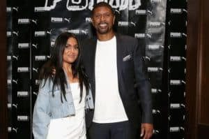 Image of Molly Qerim with her husband Jalen Rose