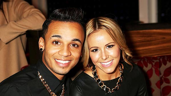 Image of Aston Merrygold and his wife to be