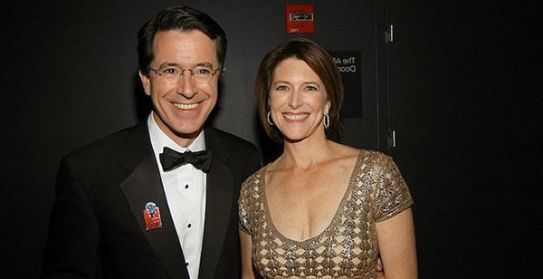 Image of Evelyn McGee with her husband Stephen Colbert
