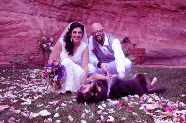 Image of Minoo Rahbar with her husband Jackson Galaxy
