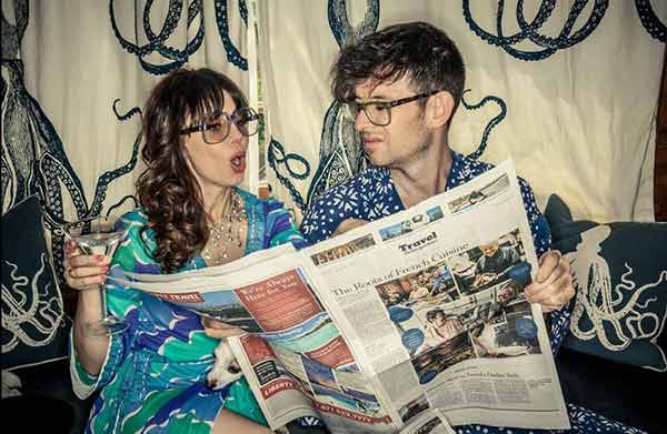 Image of Moshe Kasher with his wife Natasha Leggero's
