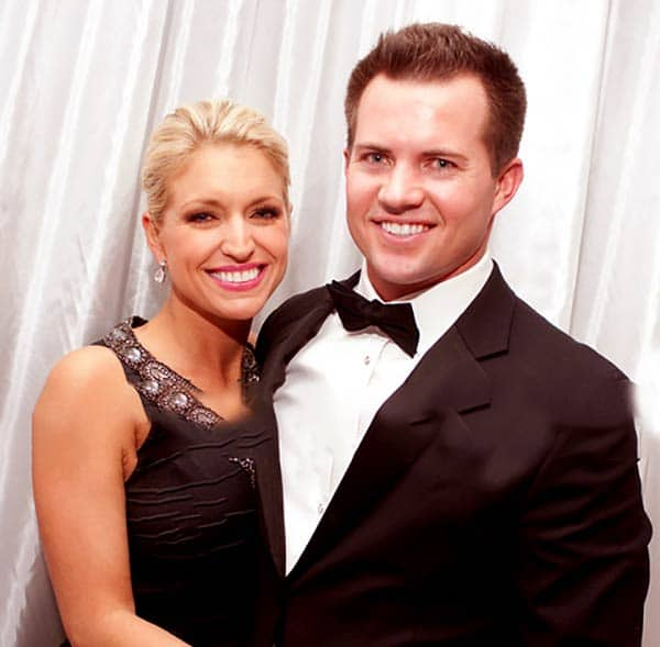 Image of Ainsley Earhardt with her husband Will Proctor