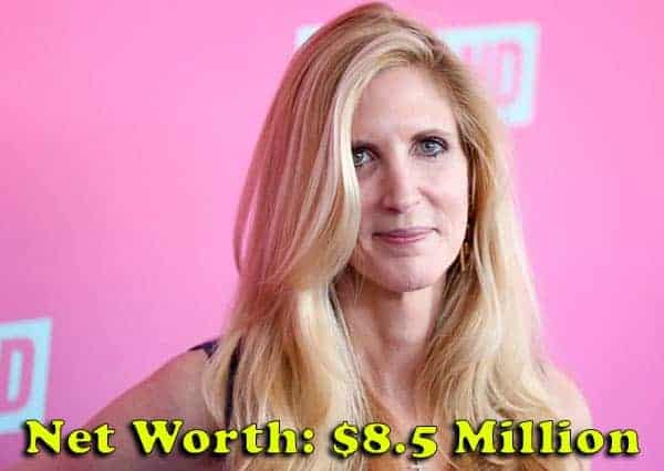 Image of Commentator, Ann Coulter net worth is $8.5 million