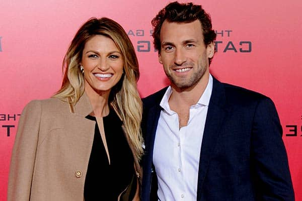 Image of Jarret Stoll with his wife Erin Andrews