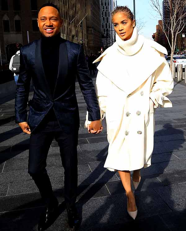 Image of Actor Jasmine Sanders with her boyfriend Terrence Jenkins
