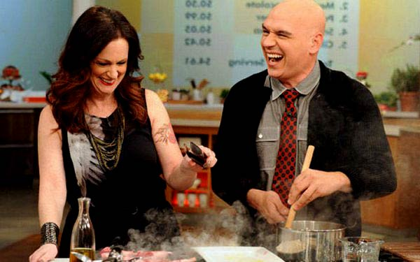 Image of Michael Symon's with his wife Liz Shanahan