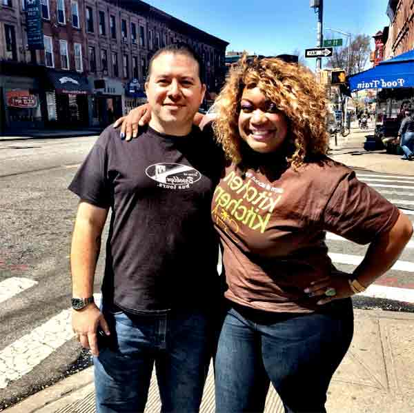 Image of Chef Sunny Andersonn with her boyfriend Aaron Sanchez