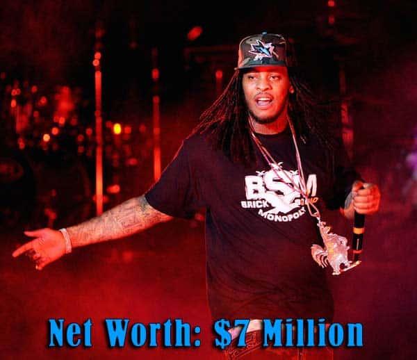 Image of Rapper Waka Flocka net worth is $7 million