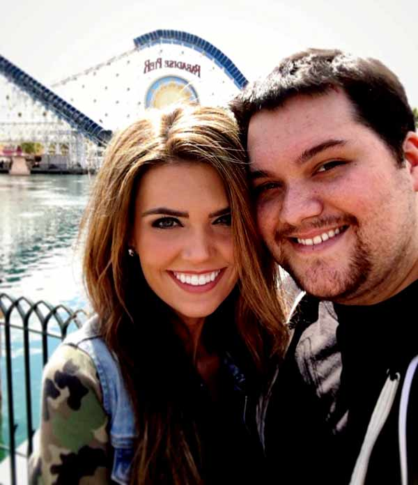 Image of Wolfgang Van Halen with his girlfriend Andraia Allsop
