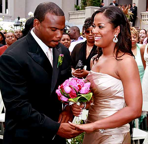 Image of Laila Ali with her husband Curtis Conway