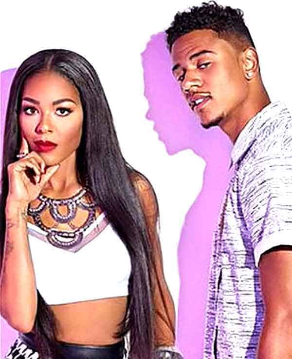 Image of Lil Fizz with his ex-girlfriend Moniece Slaughter