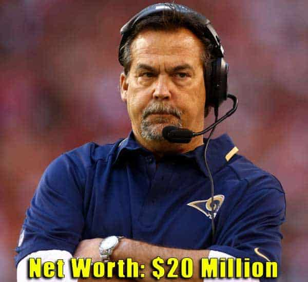 Image of American Football Player, Jeff Fisher cast net worth is $20 million