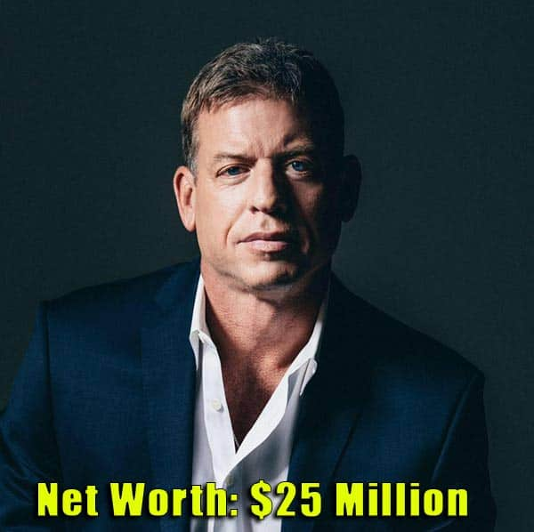 Image of American Football Player, Troy Aikman net worth is $25 million