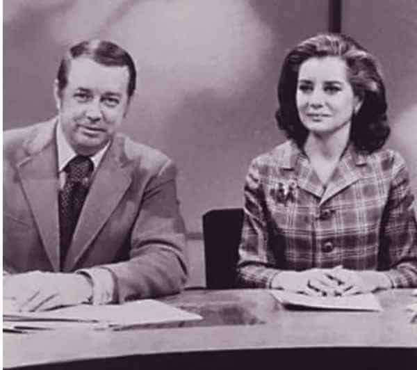 Image of Barbara Walters with her second husband Lee Guber.