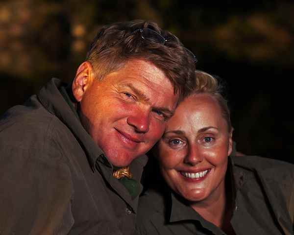 Image of Ray Mears with his wife Ruth Mears