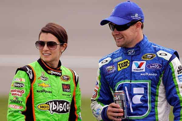 Image of Ricky Stenhouse Jr with his girlfriend Danica Patrick
