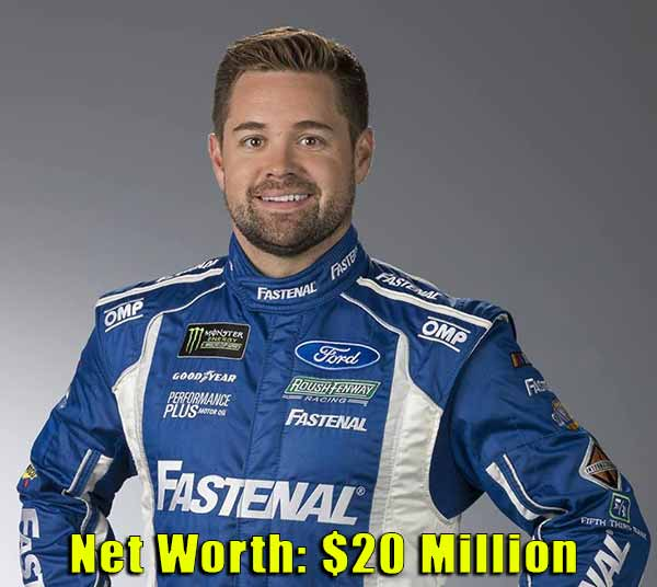 Image of Racing Driver, Ricky Stenhouse Jr. net worth is $20 million